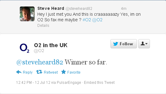 O2 usage of twitter during o2 outage