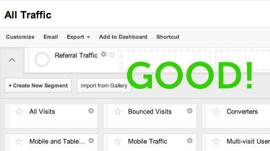 Analytics direct traffic data gone